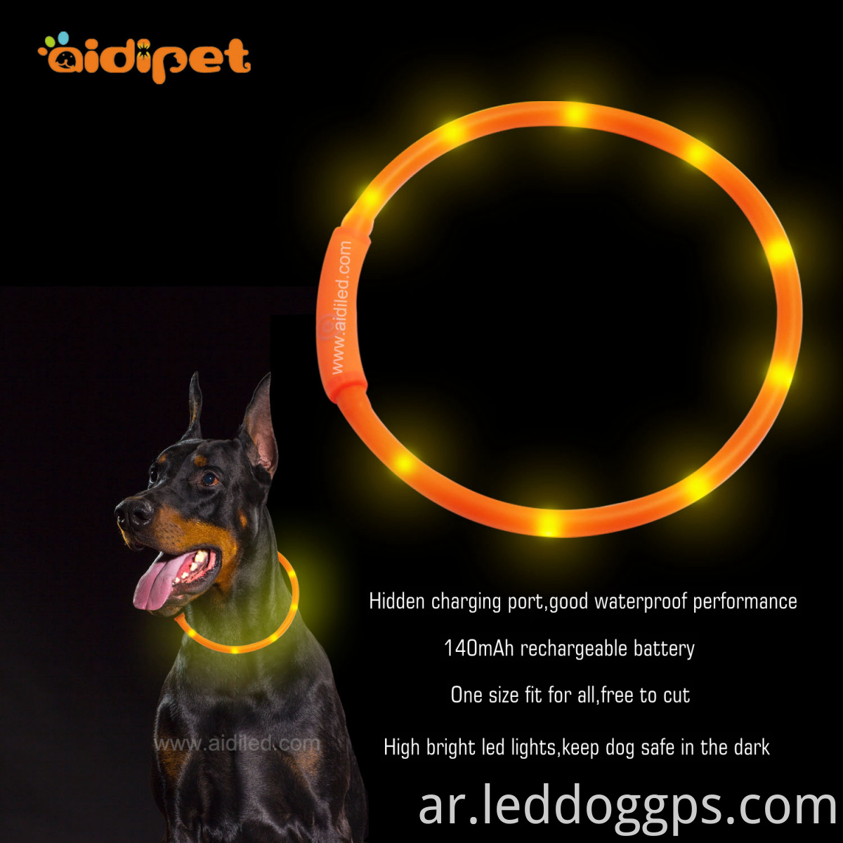 led tube dog collar