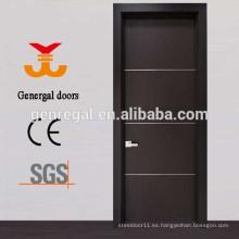 Puerta de entrada de apartamento de madera con clasificación de incendio de 60 minutos
