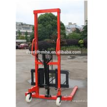 0.5t 1 tonelada 2ton empilhadeira hidráulica do empilhador da mão manual do elevador da mão de Straddle da tonelada de 1.6m 2m 1.5m com garfo ajustável