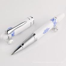 Pluma de bola de metal romotional para la fuente de oficina, pluma promocional del metal del bolígrafo del regalo