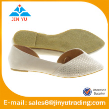 2015 latest good quality lady belly shoe