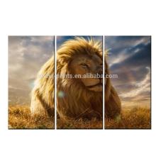Leão em The Sun Arte moderna da lona da cópia / imagem / cópia da pintura do leão na lona