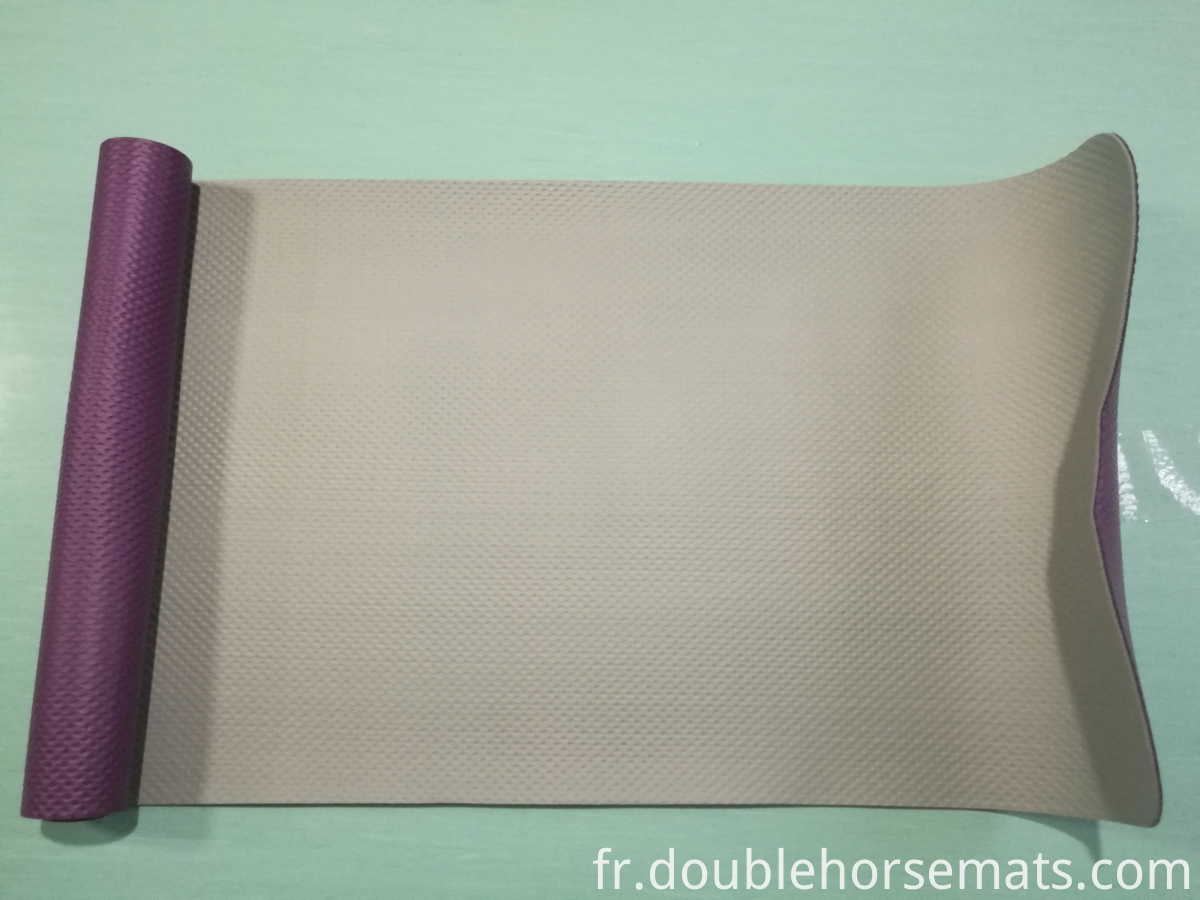 NBR double color embossed yoga mat