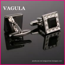 VAGULA Qualität Crystal Silber Manschettenknöpfe (HL10162)