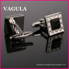 VAGULA Quality Crystal Silver Cufflinks (HL10162)