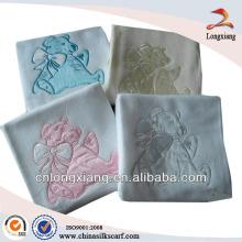 2014 popular safe soft 100% cotton baby blanket