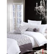 100% algodón o poli / algodón ropa de cama conjunto de sábanas para el uso del hotel