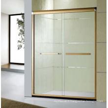 E-3 Écran de douche de salle de style simple avec cadre en aluminium