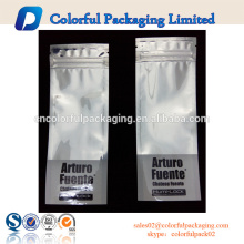 Three side seal plastic bags with clear window customized resealable mini sachet pouch
