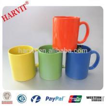 11oz Tazas de café de cerámica / Fabricante chino de gres de color de cristal taza