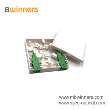 Mini caixa de parede do soquete da placa frontal de 2 portas de fibra óptica para FTTH