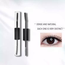 Wholesale Custom Private Label 4D Fiber Mascara Waterproof Lengthening Double Head Black Mascara