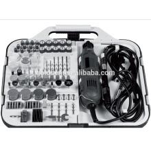 135w para la orden de correo Portátil Hobby Grinding Rotary herramientas accesorio conjunto con Flex Grinder Eje Electric 163pcs Mini Grinder kit