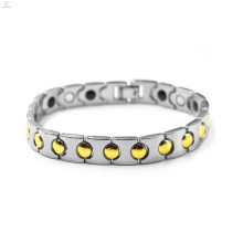 Best Selling men gold silver stainless steel magnetic bracelet jewelry