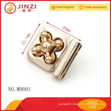Hign end zinc alloy locks for leather bags