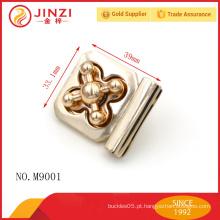 Fechamentos de liga de zinco finais Hign para bolsas de couro