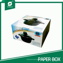 Caixa de embalagem de papel de cor ondulada para potes