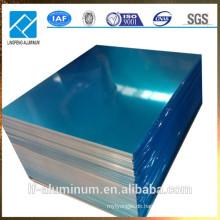 AA1100 / AA1060 Aluminiumblech Dünndicke mit blauem PVC-Film beschichtet