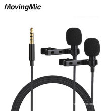 Newest Collar Clip Dual-Microphone For Interview Recording