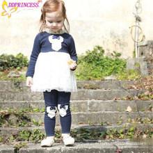 Beste Qualität Gute Verkauf Baby Mädchen Elastische Baumwolle Kleid Hosen