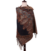2016 New Style Scarf Winter Pashmina Jacquard Shawl for Lady