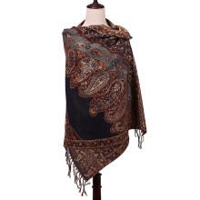 2016 Cachecol de estilo novo Winter Pashmina Jacquard Shawl for Lady