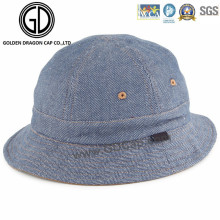 Professional Low Crown New Style Blue Denim Jean Bucket Hat