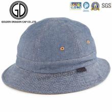 Professional Low Crown New Style Blue Denim Jean Bucket Hat