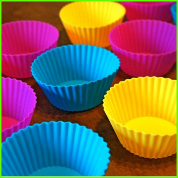 Mini Silikon dekorative Cupcake Wrappers Set 12 Stk