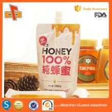 Impreso personalizado de pie hasta la bolsa con el chorro de miel 100ml 250ml 500ml