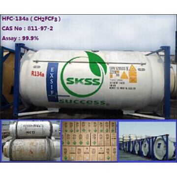 Grado 90.9% China cilindro recargable R134a gas industrial
