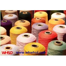 2/32 tingida de fios de cashmere misturado como fios de acrílico para tricô de mão
