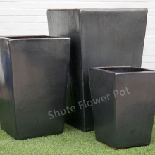 Custom Gray Garden Plants Ceramic Flower Pot