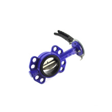 CE, ISO, EAC certificate 6 din wafers end type butterfly valves for power plant