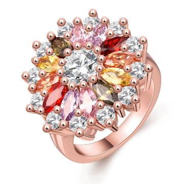 Farbe Edelstein Ringe Silber Hochzeit Ring Schmuck