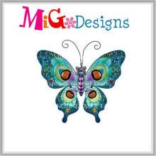 Magnifique Métal Art Papillon Vert Décoration Murale