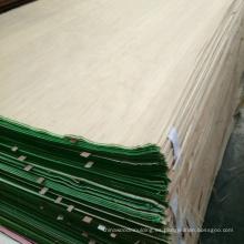Piel natural de la puerta de chapa de madera de teca para el mercado iraquí
