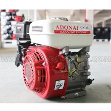 Motor de gasolina de uso multifuncional Gx160 5.5HP con eje de rosca y llave