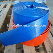 O PVC de 6 polegadas pôs a mangueira lisa / mangueira azul da descarga da água do PVC / mangueira da irrigação gotejamento do PVC