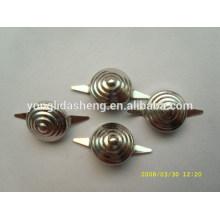 Accesorios de hardware de plata / púrpura pin de clavija metálica de metal para prendas de vestir, sombrero, zapatos, bolsas