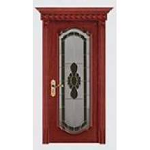 Massivholz-zusammengesetzte Bildschirm-Tür mit dem Schnitzen