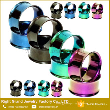 Stainless Steel Double Flared Ear Flesh Tunnel Gauges Plugs