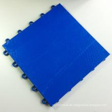 Interlocking Sports Flooring Fliesen PP flach Sea Blue