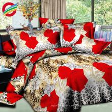 hermosa cama de cama de impresión 3d de algodón 100% para la venta