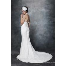 Великолепная Русалка Холтер шеи кружева свадебное платье платье AS29102