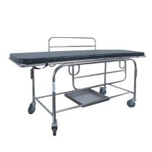Geduldige Notfall-Edelstahl-Bahren-Laufkatze für Krankenwagen mit Rückenlehne