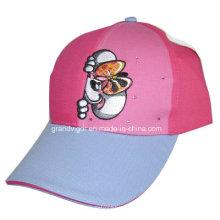 Gorra de béisbol de algodón de los niños con las estrellas y el bordado del metal