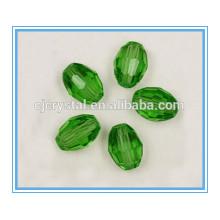 Contas de cristal chinês contas de forma oval grosso