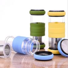 Nuevo producto Navidad transparente vidrio verde té botella