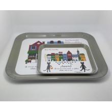 (BC-TM1018) Bandeja de servicio reutilizable de la melamina de la Caliente-Vender de la alta calidad